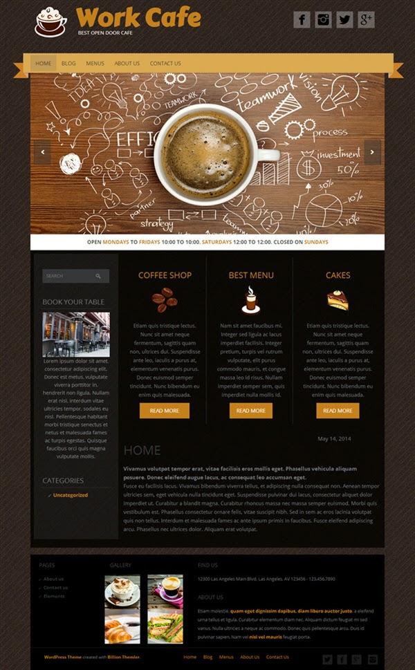 Work Cafe - Free Wordpress Theme