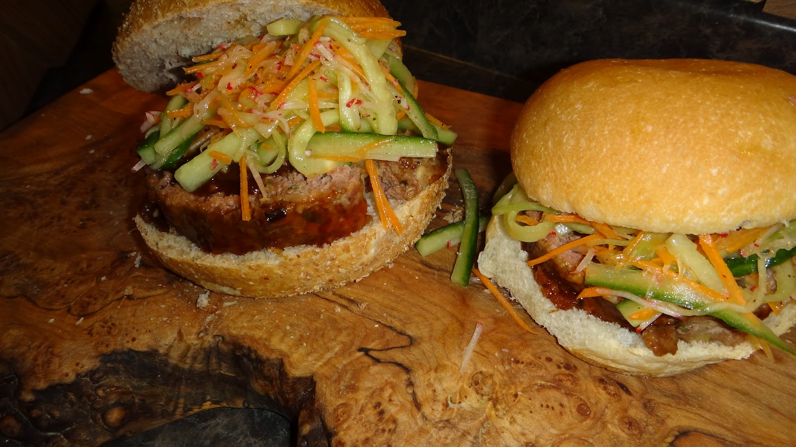 want to cook that: Bon Appetit- Hoisin Glazed Meatloaf Sandwiches