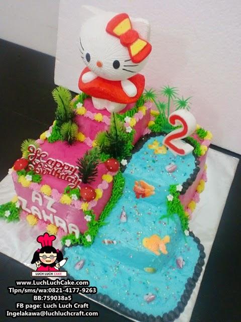jual kue tart ulang tahun hello kitty surabaya - sidoarjo