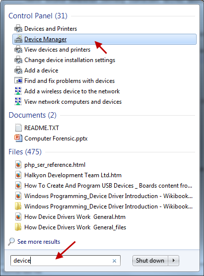 Cara membuka device manager WIndows 7
