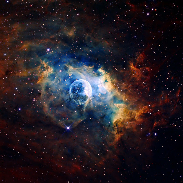 Stunning image of NGC 7635, the Bubble Nebula!