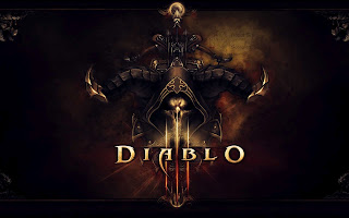 Diablo 3 Game Skull Logo High Definition Desktop Wallpaper