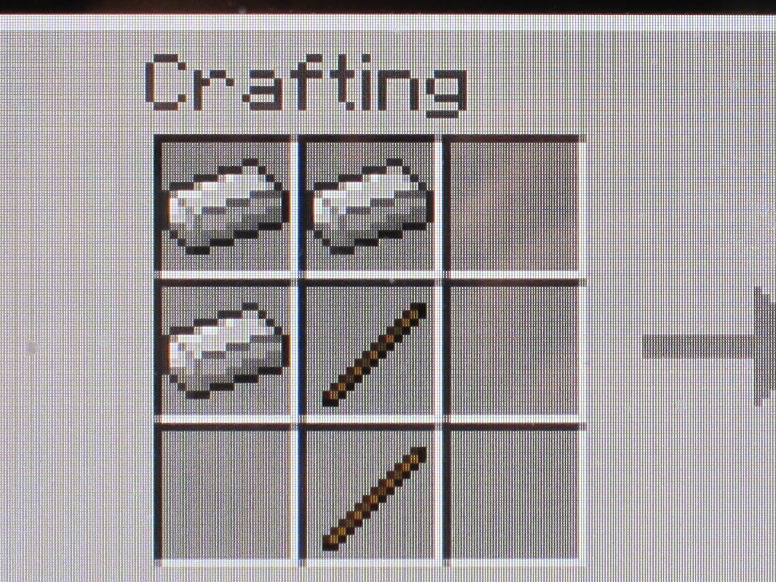 how to make a axe in minecraft pe