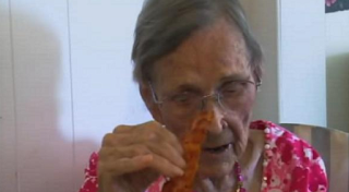 centenarian who loves eating bacon