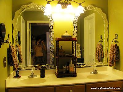 wavy mosaic mirror frame