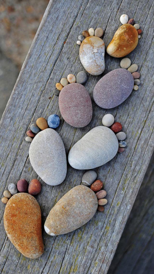 Stone+footprints+iPhone+5+rooteto iPhone 5 Resimleri