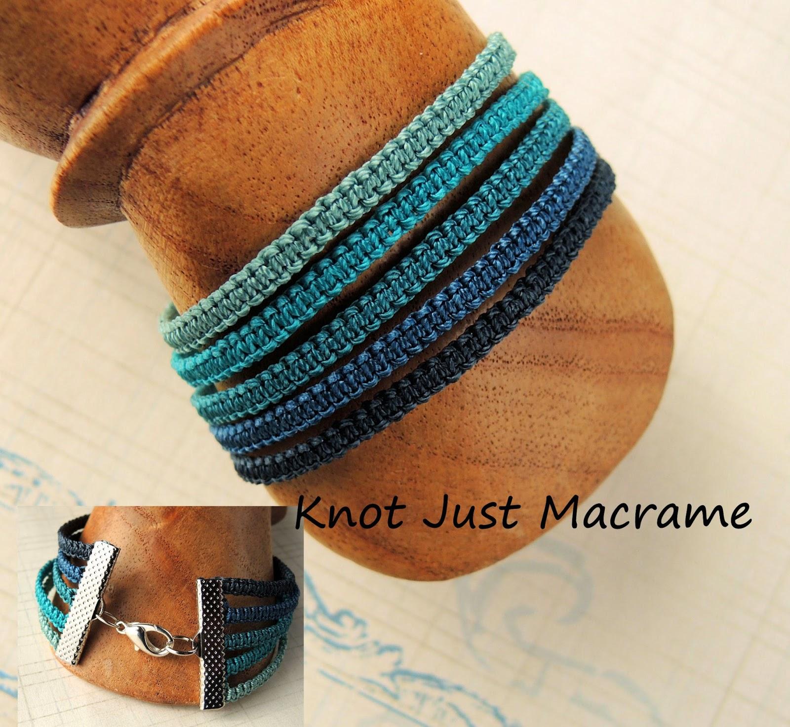 Micro Macrame Stack Bracelet by Sherri Stokey of Knot Just Macrame