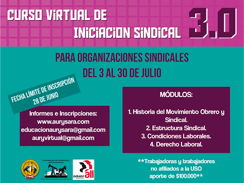 Curso virtual de iniciación sindical 3.0