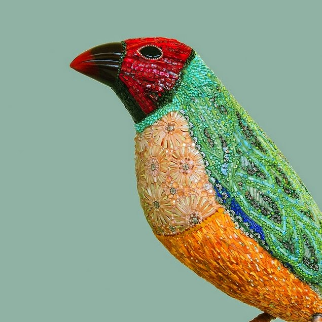 mosaic bird sculptures dusciana bravura-6