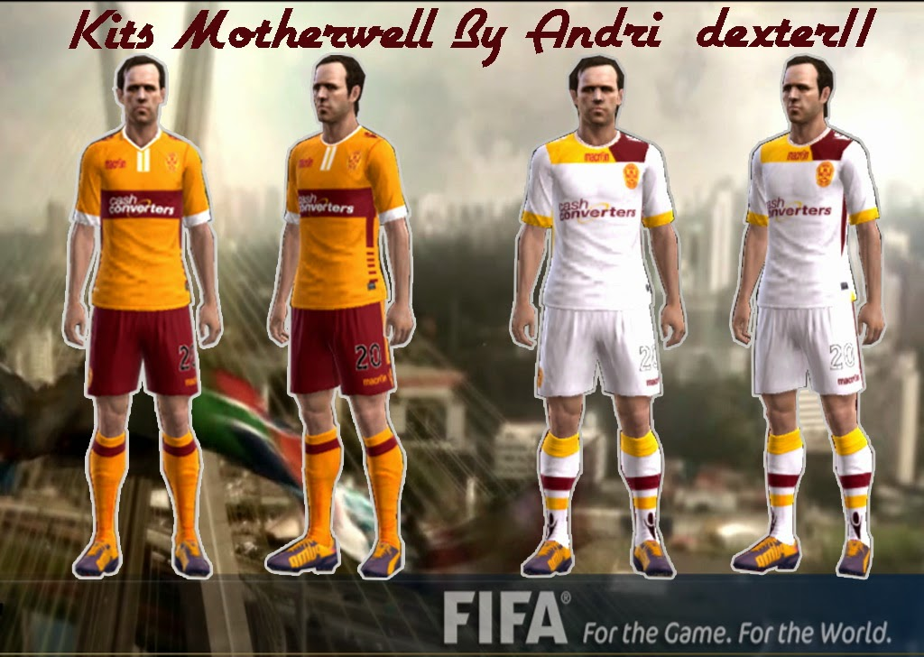 PES 2013 Motherwell Kits 14/15 By Andri_dexter11