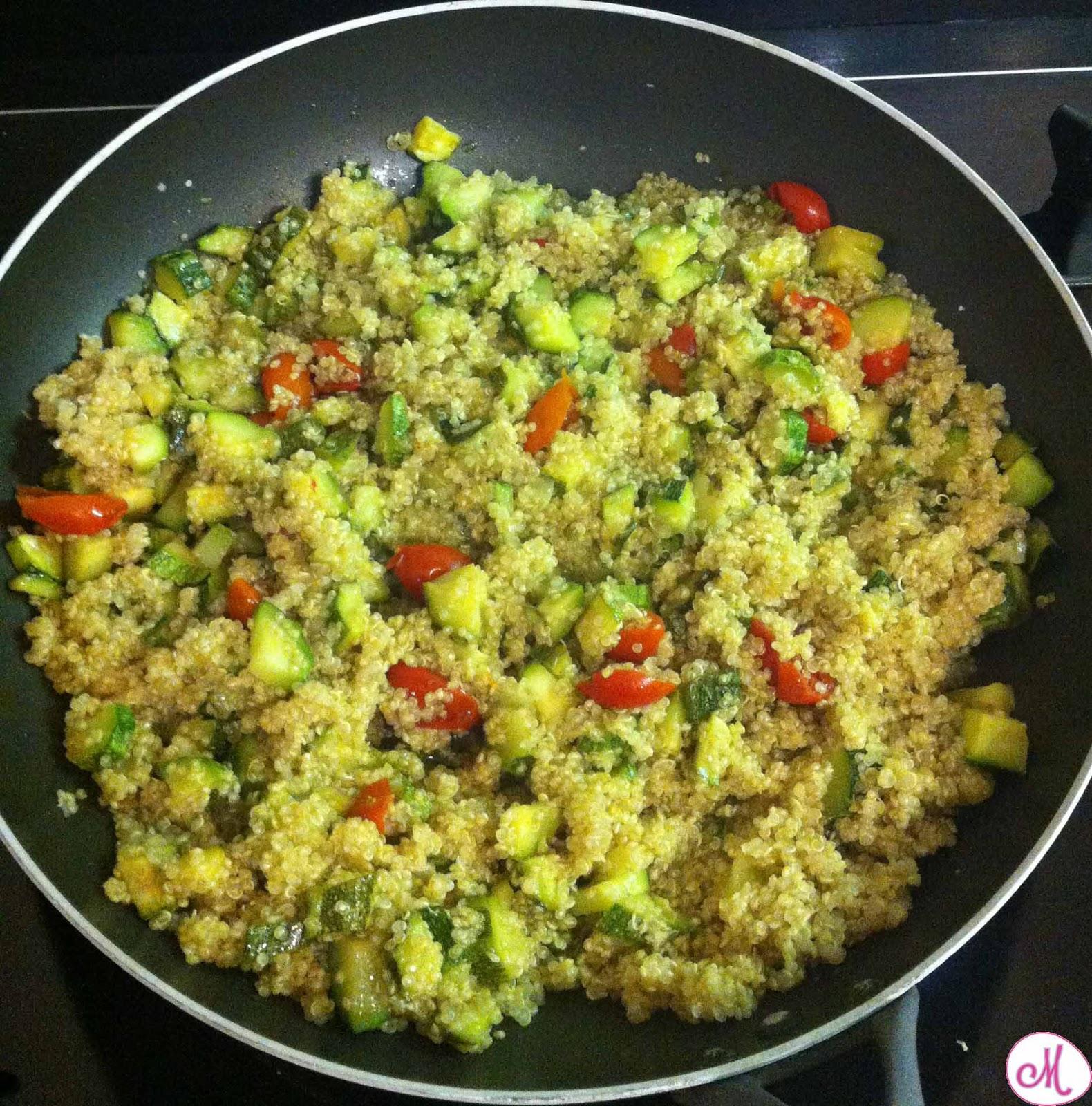 quinoa zucchine e pomodorini