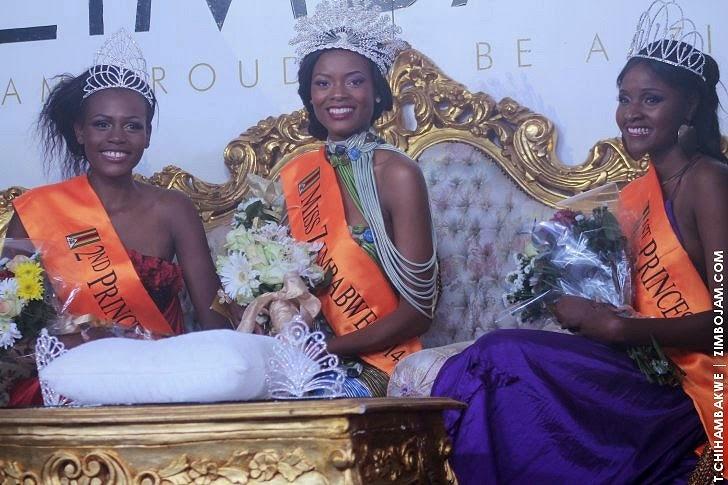 Miss Zimbabwe 2014 winner Thabiso Phiri