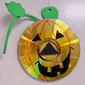 Ideas para Reciclar Cds en Halloween