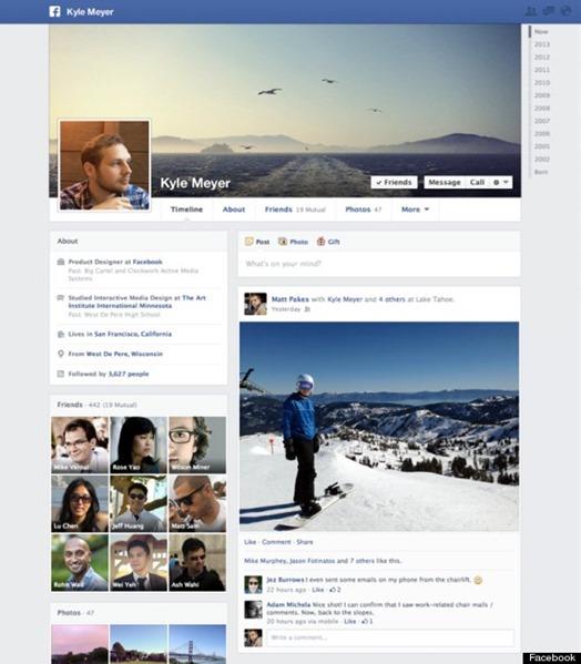 new facebook timeline 2013