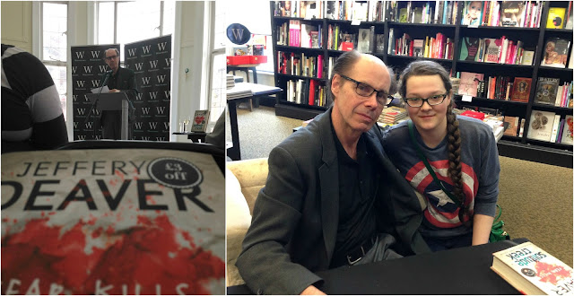 Jeffery Deaver talking about his new book and a picture of me with him