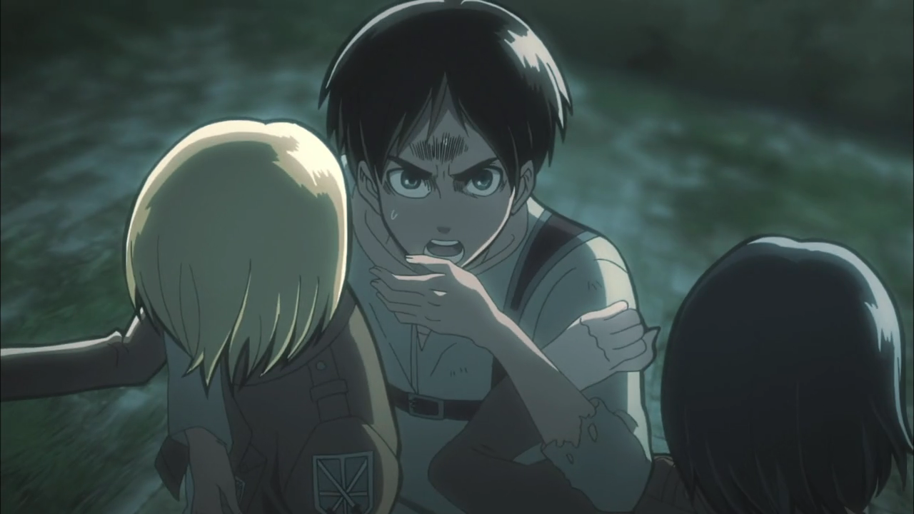 Eren Jaeger in a spot of trouble