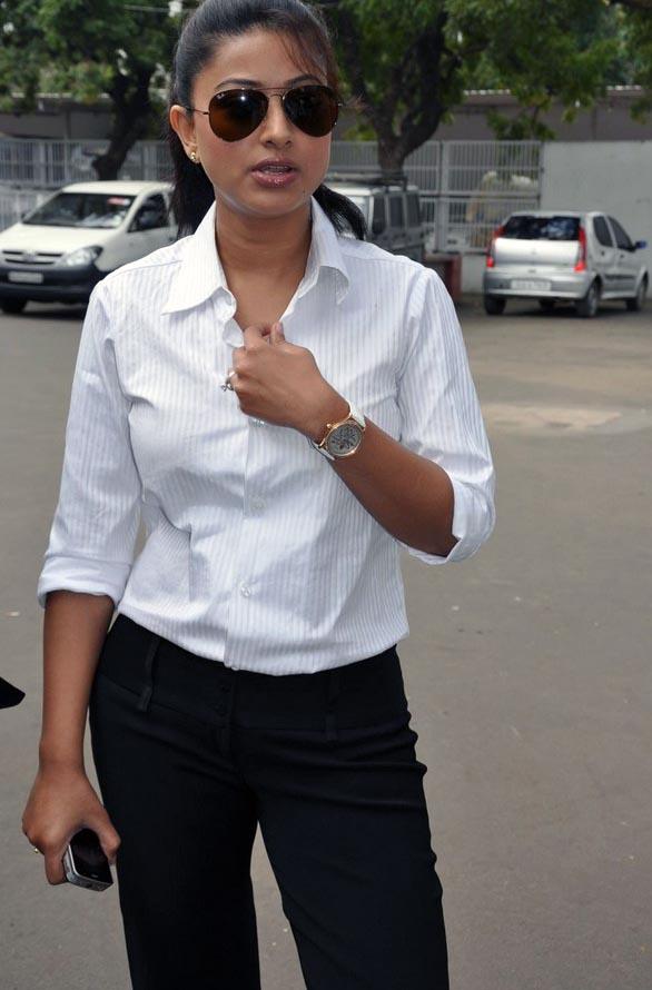 Sneha in white shirt