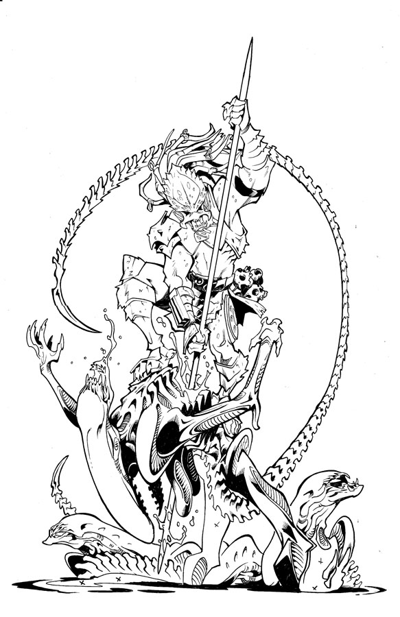 predator alien coloring pages - photo#4