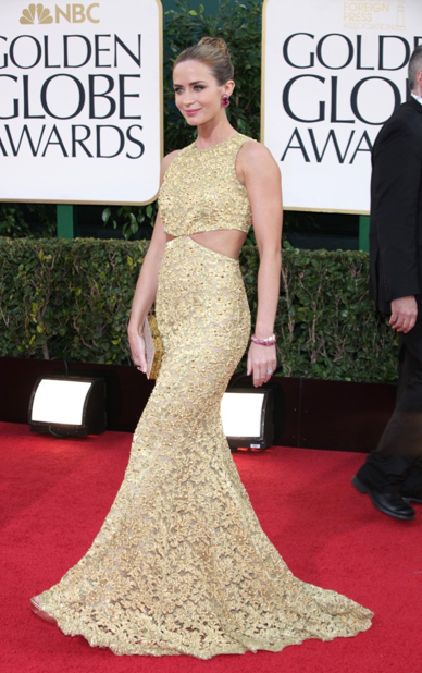 Golden Globes 2013 best dressed red carpet LUA luv u always leggings Emily Blunt Michael Kors