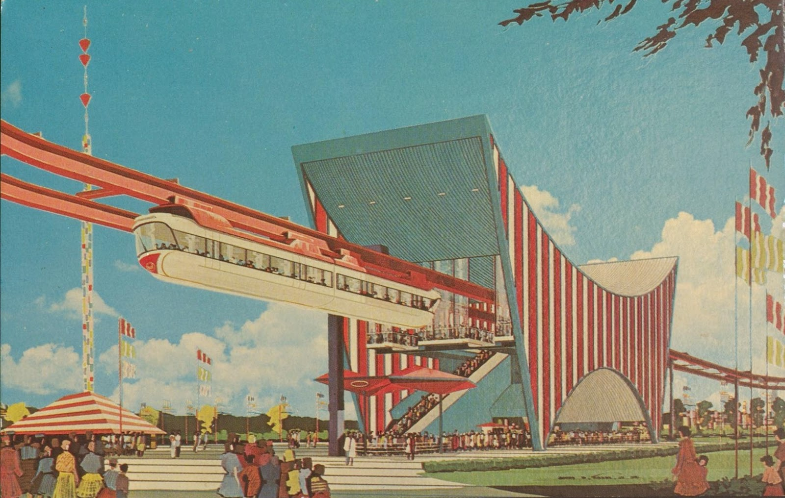 Rebuilding Place in the Urban Space: AMF Monorail (postcard), 1964 ...