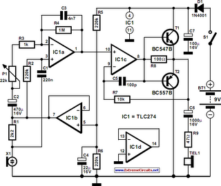 pulse rate monitor circuit diagram