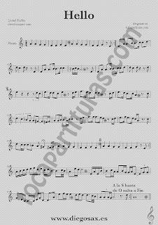 Partitura de Hello para Flauta Travesera, flauta dulce y flauta de pico  Lionel Richie  Sheet Music Flute and Recorder Music Score Hello