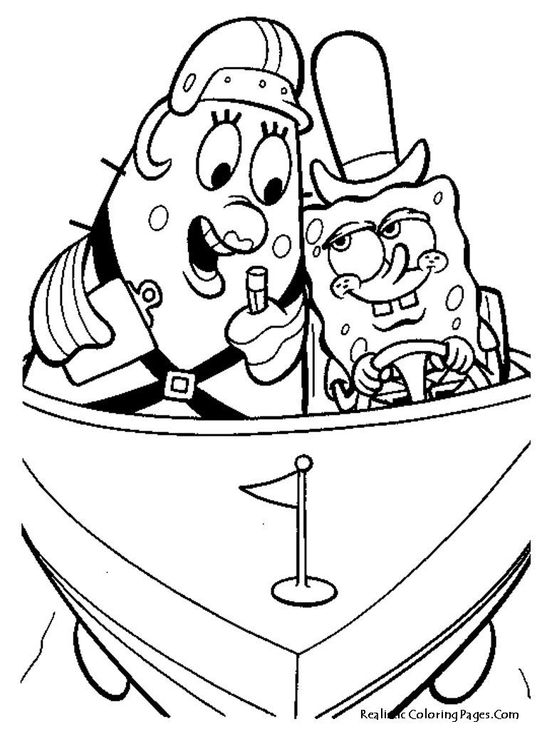 Spongebob Coloring Pages Realistic