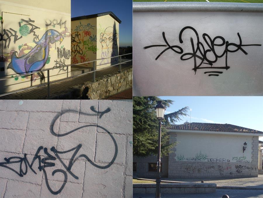 Cosas de hoyo euros de multa para los graffitis - Graffitis en paredes ...