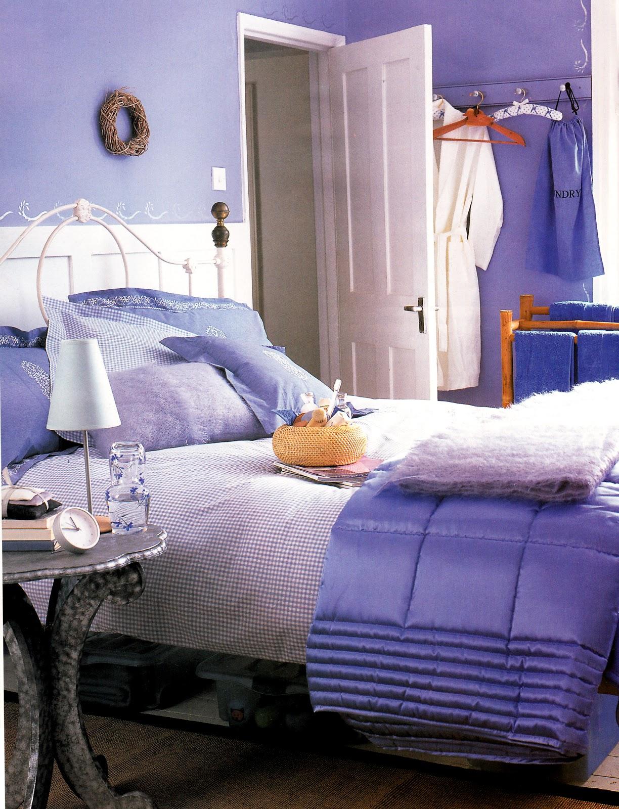 kamar tidur biru lavender sambut suasana baru rumah