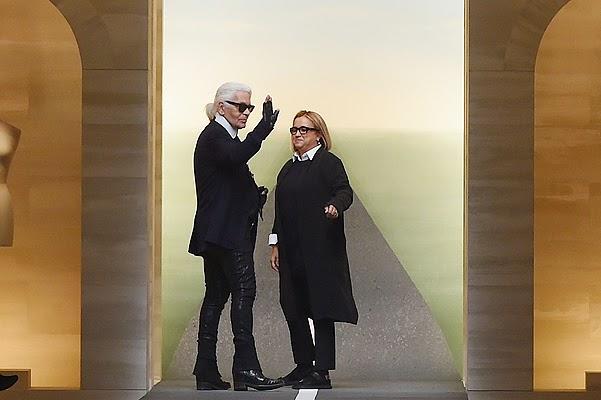 Karl Lagerfeld and Silvia Venturini Fendi