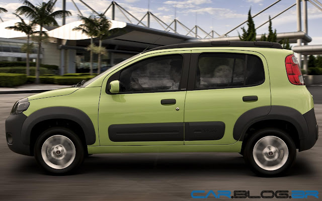 Fiat Uno Way 2013 - lateral