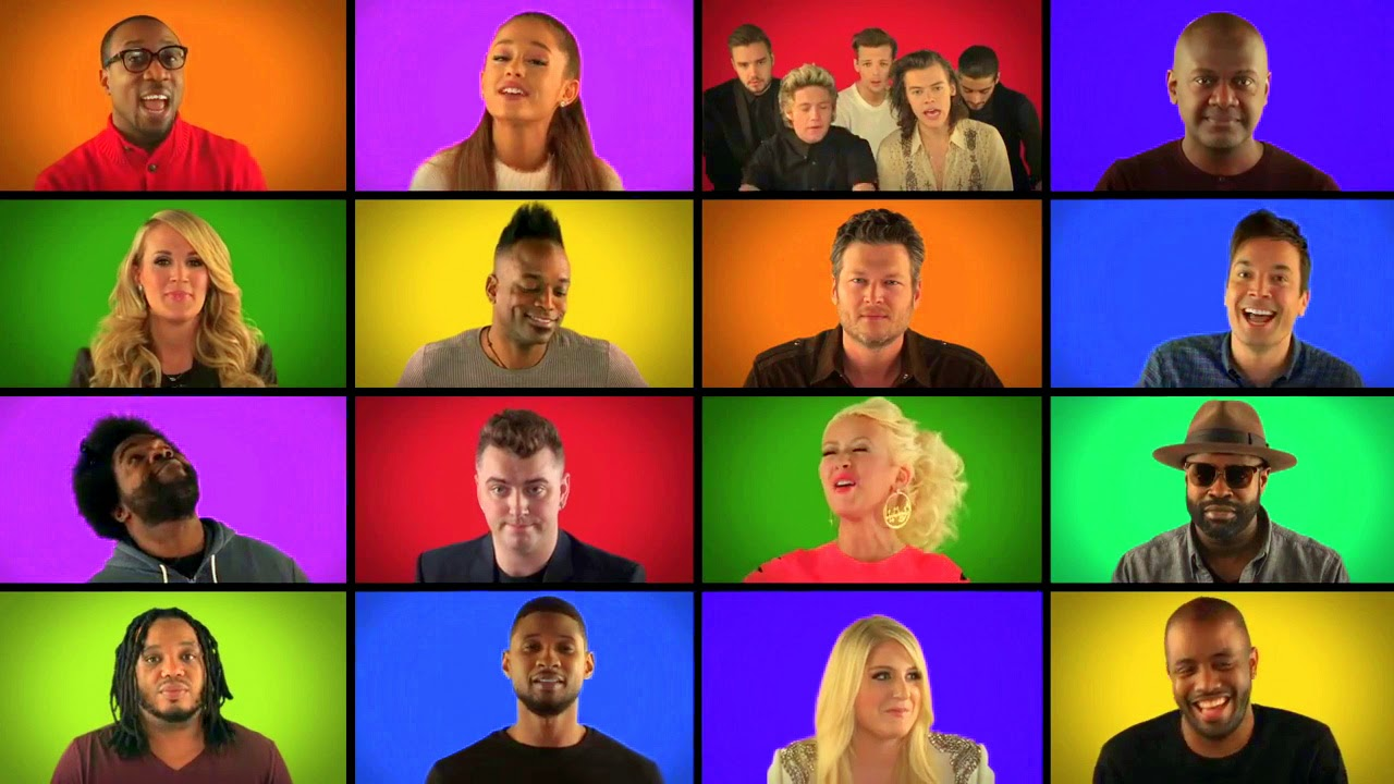 """Jimmy Fallon, The Roots, and Music Superstars Sing """"We Are The Champions"""""""