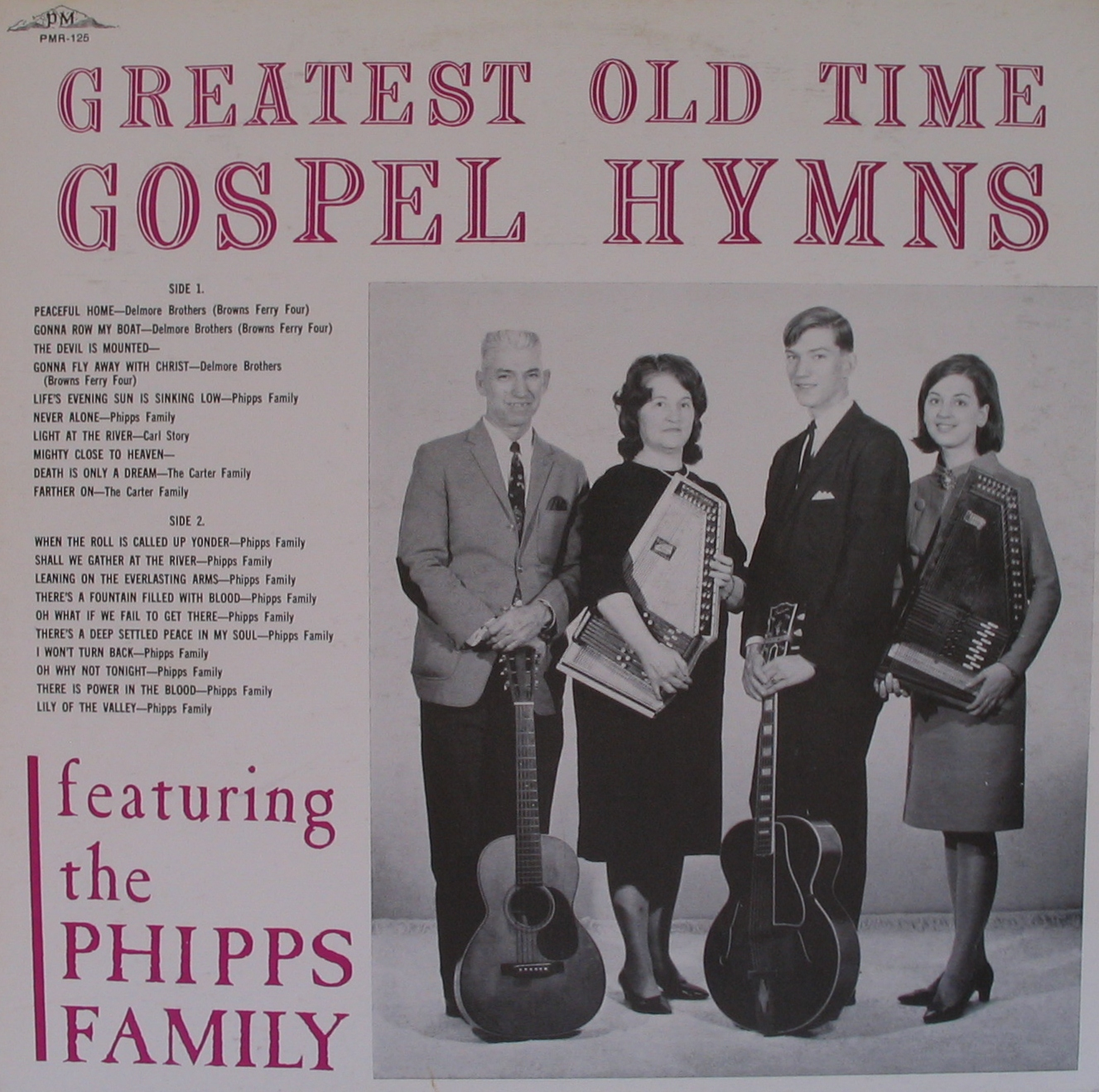 Old country music the phipps family greatest old time gospel hymns
