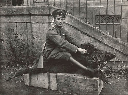 http://historicaltimes.tumblr.com/post/90664072756/german-air-force-officer-sits-on-a-dead-wild-boar#notes