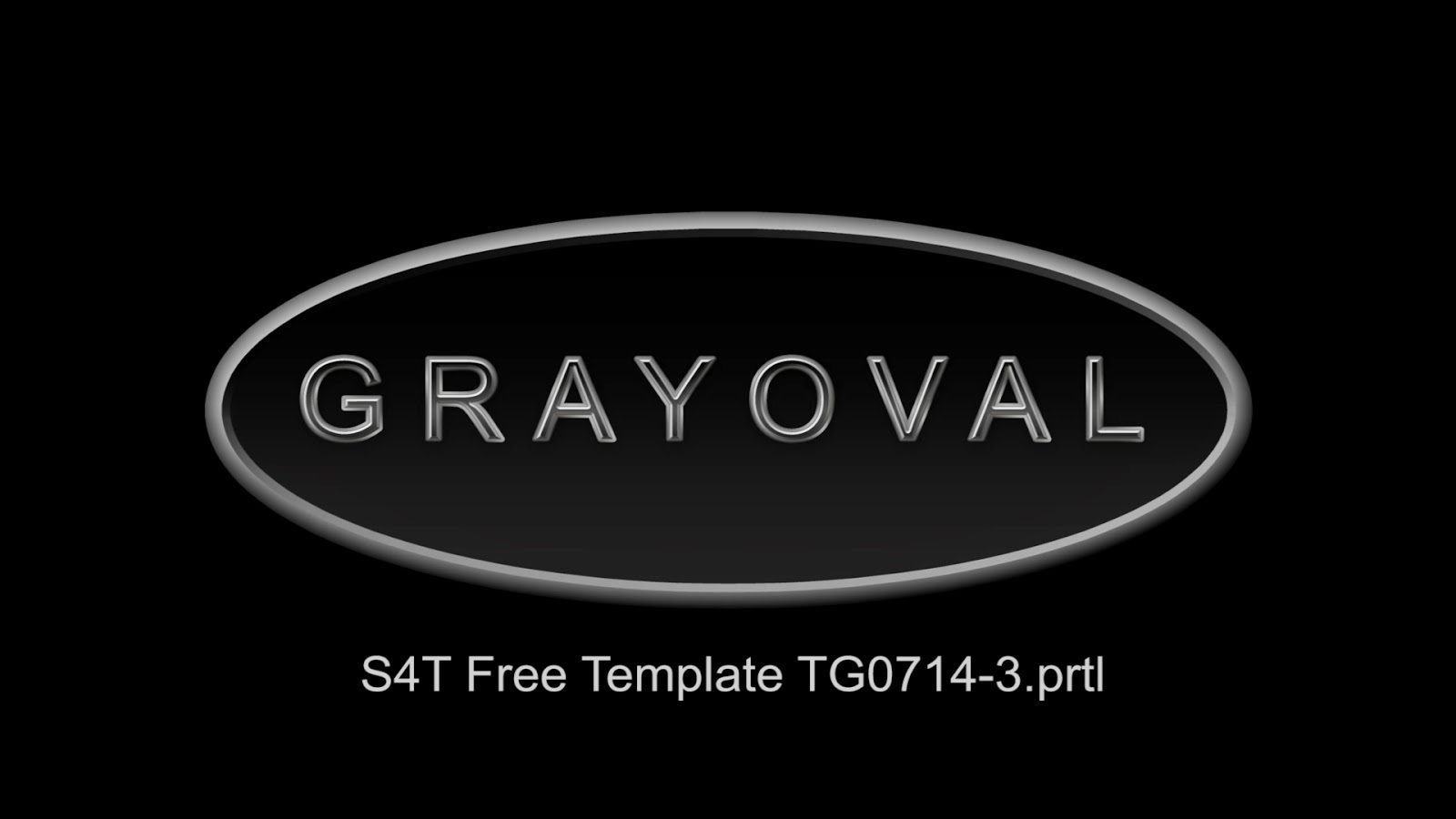 Style4type free s4t premiere pro title template gray oval for Premiere pro title templates free
