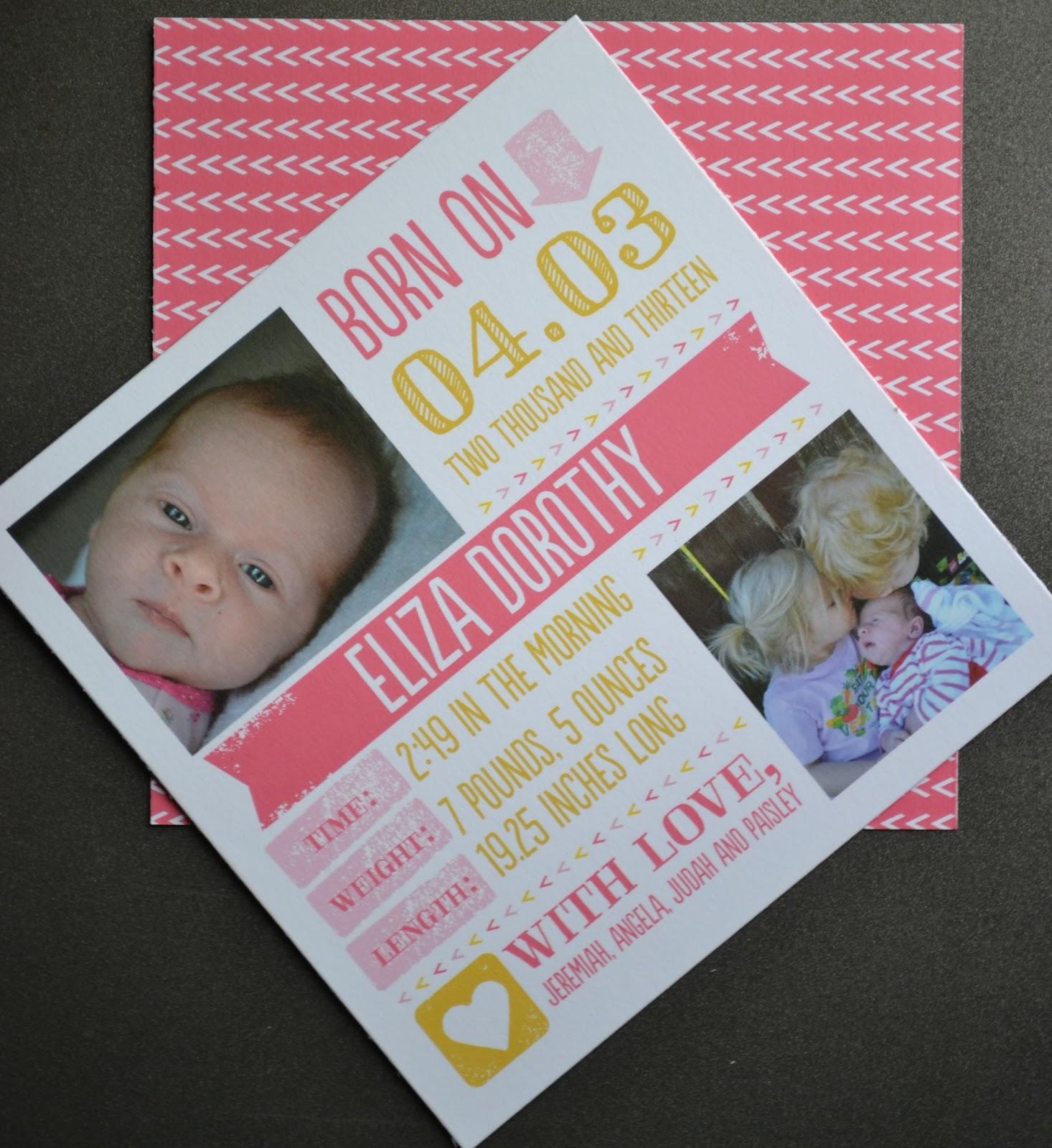 Angela Strand Tiny Prints Birth Announcement – Tiny Prints Birth Announcement