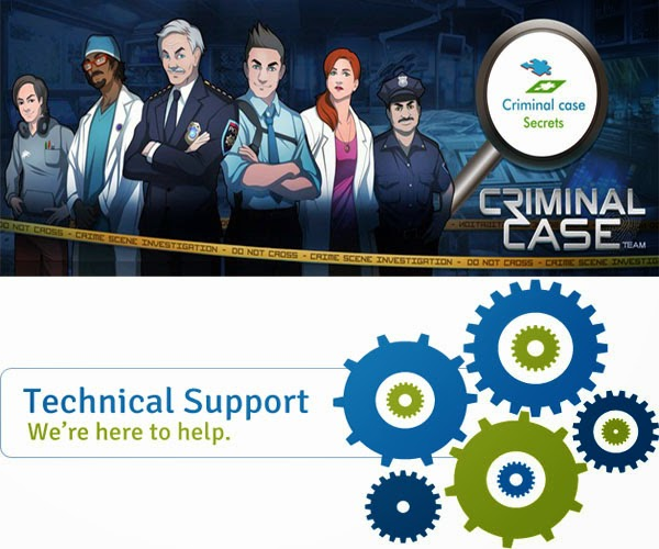Criminal case game issues+technical support+problems+fix Criminal case game