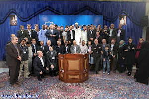 AN Shibli and other Journalist of different Country with the president of Iran Ahmadinejad