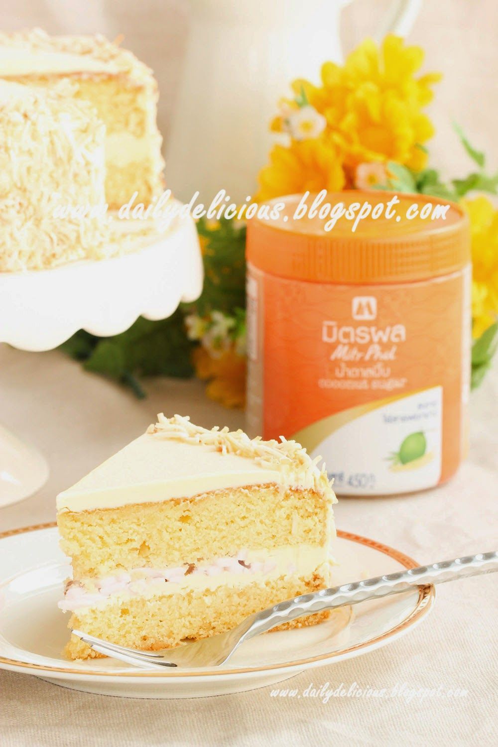 coconut sugar cake: another place for delicious sugar
