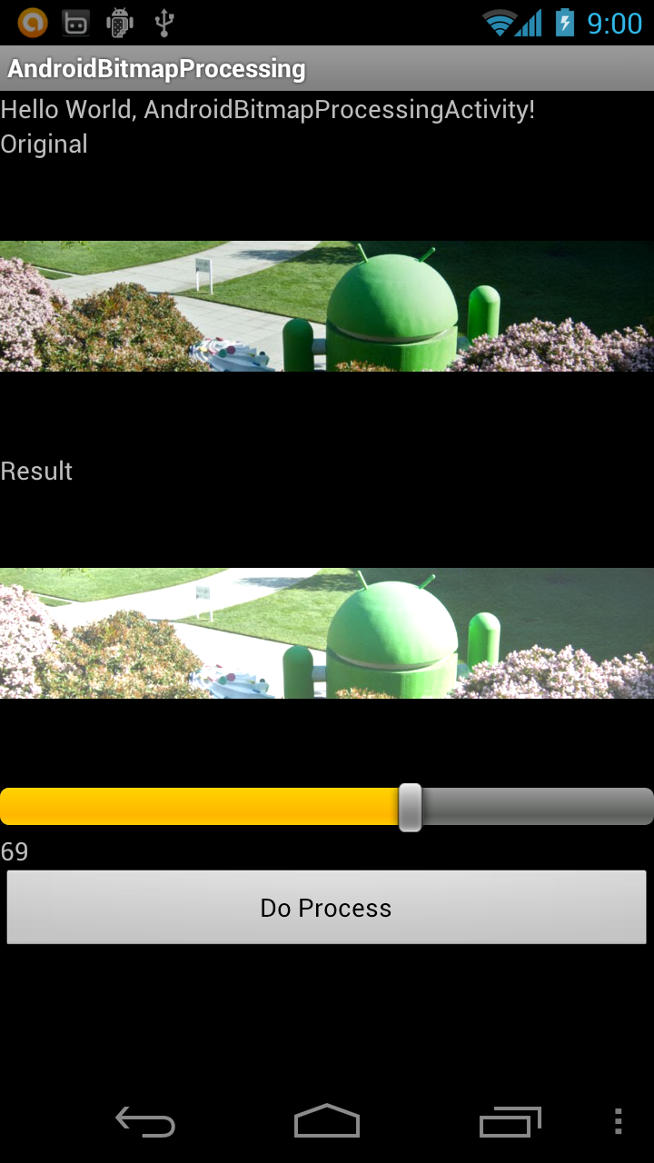 how to create a bitmap image in android