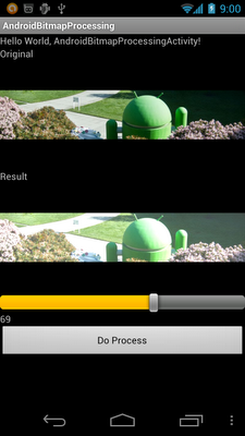 Adjust brightness of a bitmap