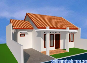 Gambar Desain Rumah Minimalis Type 45 - Sudut kiri