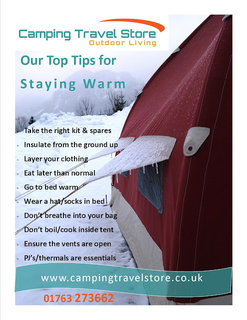 Top tips to staying warm - Winter camping