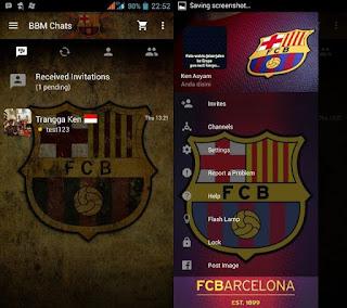 BBM Mod Tampilan Klub Bola FC Barcelona