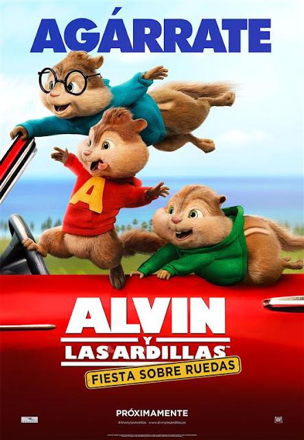 Segundo póster y nuevo tráiler español de 'Alvin y las ardillas: Viaje sobre ruedas'
