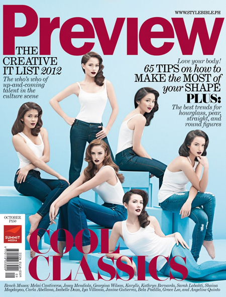 Bench muses cover Preview magazine October 2012 issue