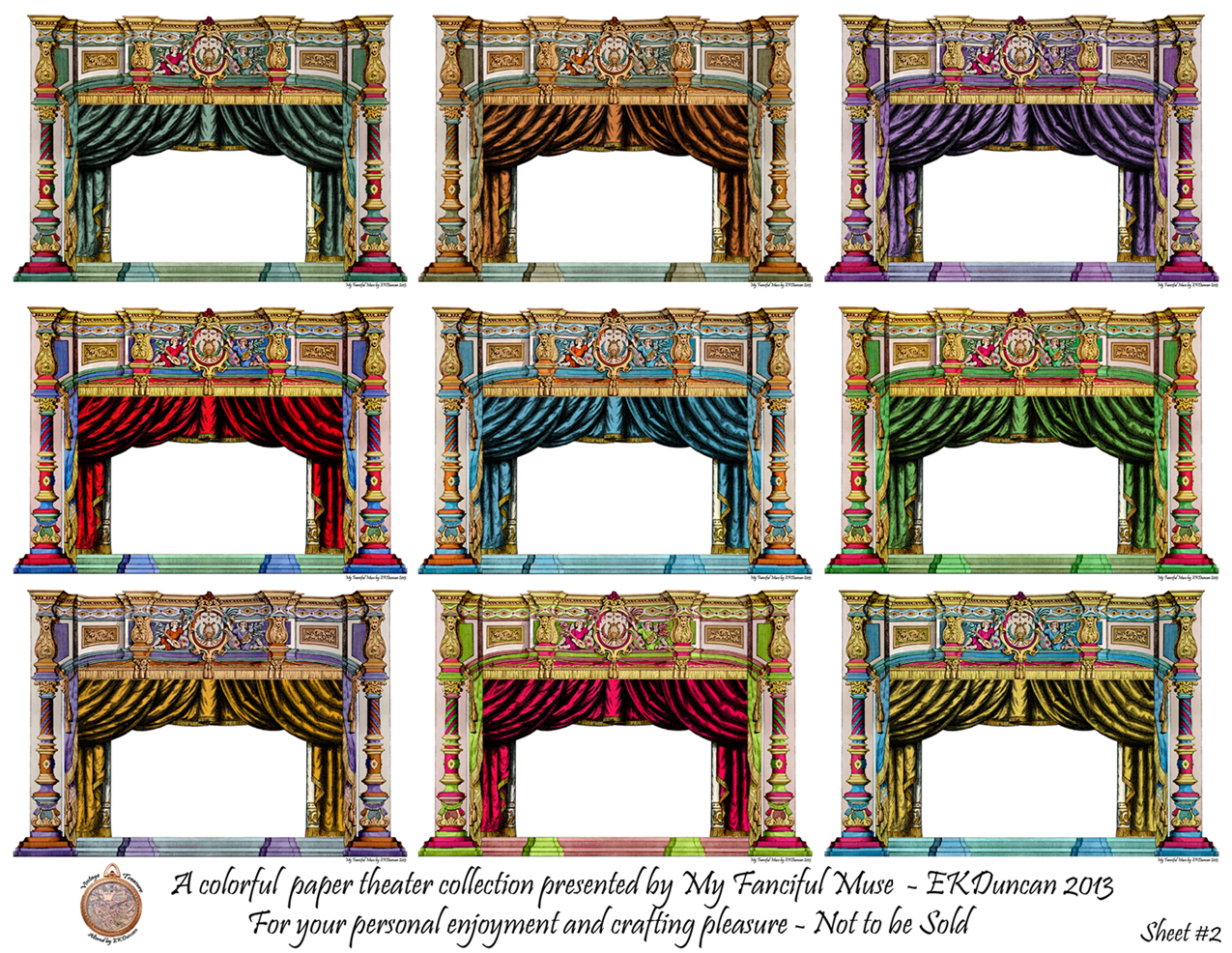 Blue theater curtains - Ekduncan My Fanciful Muse French Paper Theater D