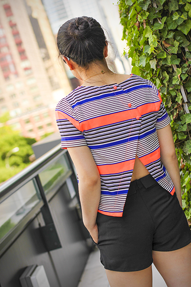 Joa striped top