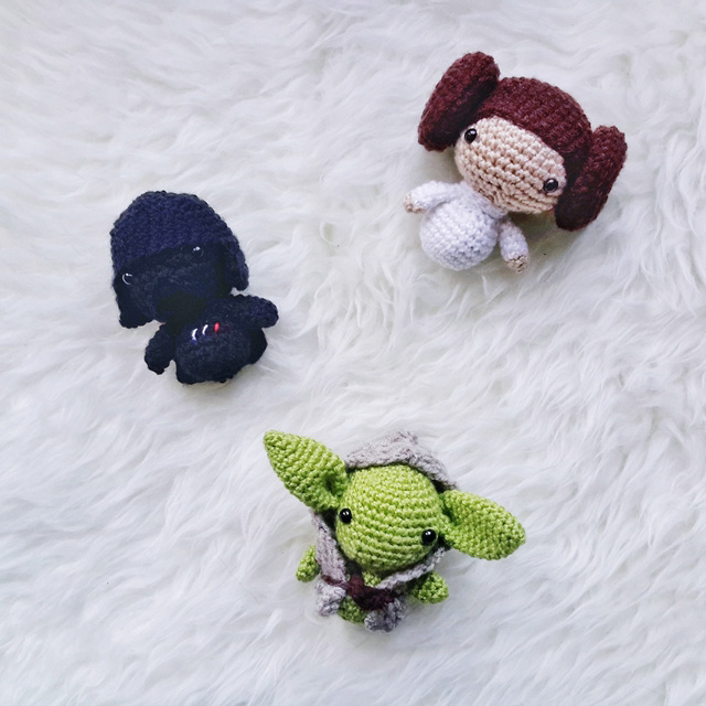 Free Star Wars Crochet Amigurumi Patterns : AMIGURUMI STAR WARS PATTERN COLLECTION - Little Things Blogged