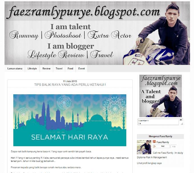 Tempahan Design Blog Faez Ramly